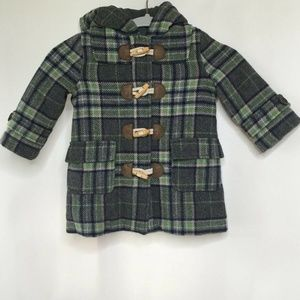 Mini Boden wool coat size 1 1/2 to 2 year plaid